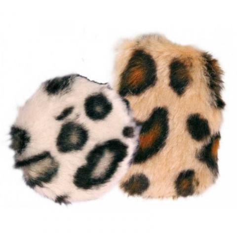 Rotaļlieta kaķiem - Trixie Set of Rustling Pads Plush, 7 cm/5.5 cm, 2 gab