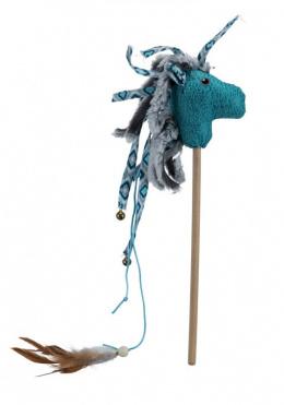 Rotaļlieta kaķiem - Trixie rotaļlieta kaķiem zirdziņš uz kociņa