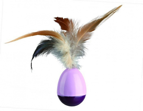 Игрушка для кошек - TRIXIE Wind Up Egg with Feathers, 6 см