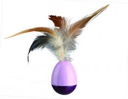Игрушка для кошек - TRIXIE Wind Up Egg with Feathers, 6см