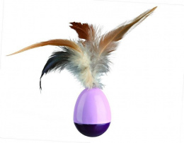 Rotaļlieta kaķiem - TRIXIE Wind Up Egg with Feathers, 6cm