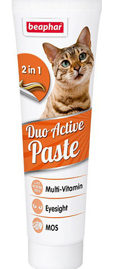 Barī­bas piedeva kaķiem - Beaphar Duo-Active Paste For Cats, 100g