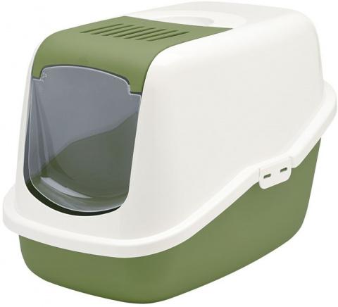 Туалет для кошек - Savic Nestor, white - earth green, 56*39*38.5 cm