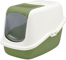Tualete kaķiem - Savic Nestor, white - earth green, 56*39*38.5 cm