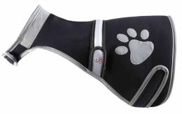 Светоотражающий жилет для собак - Trixie, Flash Safety Vest, S, цвет - черный