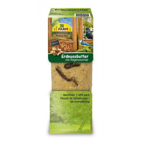Barība āra putniem - JR FARM PBar peanut butter earthworms, 350 g title=