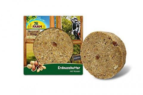 Papildbarība savvaļas putniem - JR FARM Garden Ring Peanut Butter with Nuts, 250 g