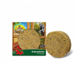 Papildbarība savvaļas putniem - JR FARM Garden Ring Peanut Butter with Power Seeds, 250 g