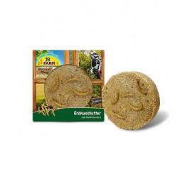 Papildbarība savvaļas putniem - JR FARM Garden Ring Peanut Butter with Mealworms 250 g