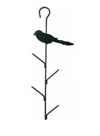 Кормушка для уличных птиц - Trixie Fat Ball Feeder, 9*40см, (темно зеленая)
