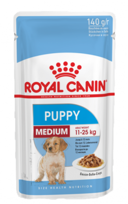 Konservi kucēniem - Royal Canin SHN Medium Puppy, 140 g