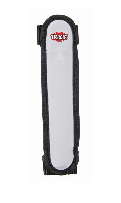 Atstarojošā siksna suņiem - Flash safety band/strip, 16 cm, pelēka/melna