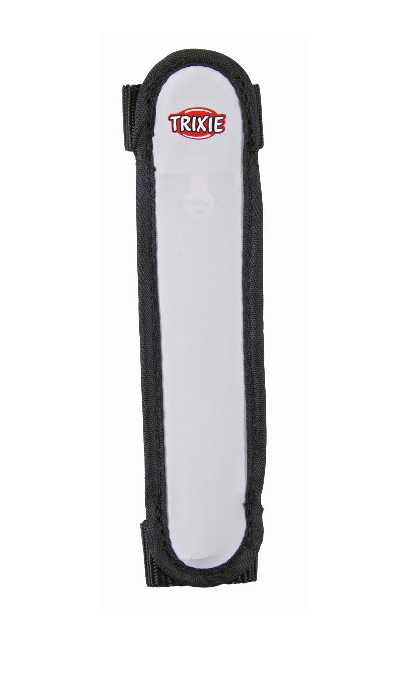 Отражающий ошейник для собак - Flash safety band/strip, 16 cm, серый/черный