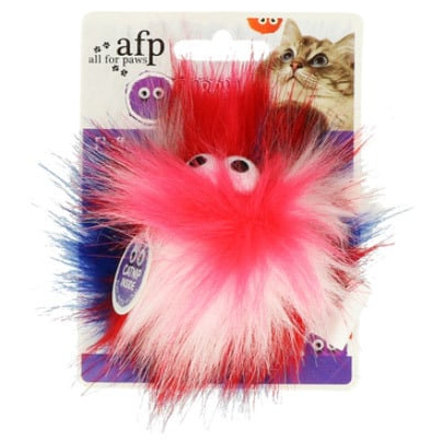 Игрушка для кошек – AFP Furry Ball Fluffy Ball, pink title=