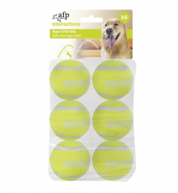 Игрушка для собак-AFP Interactive - Hyper Fetch- Super Bounce Tennis Balls(6 pack)