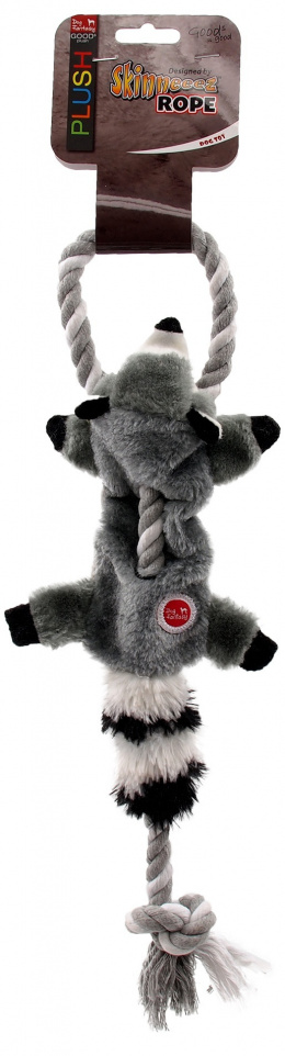 Rotaļlieta suņiem – Dog Fantasy Good's Skinneeez Rope Racoon, 57,5 cm