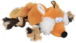 Игрушка для собак – TRIXIE Fox with rope, plush, 34 см