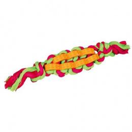 Rotaļlieta suņiem - Trixie Denta Fun twisted stick on a rope, 4 cm/22 cm