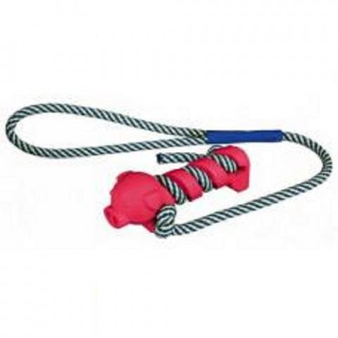 Rotaļlieta suņiem - Trixie Toy with Phosphorescent Rope, Natural Rubber, 9cm/40cm