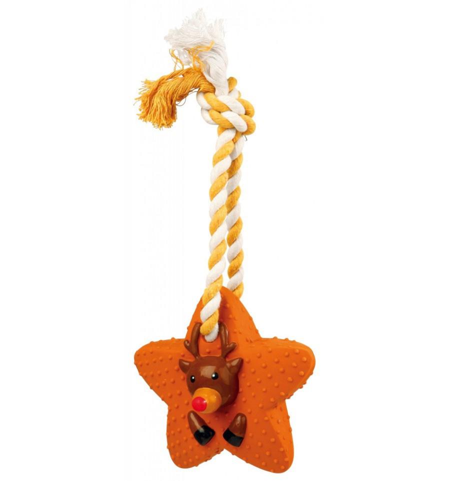 Rotaļlieta suņiem - Xmas dog toy, latex, 18 cm