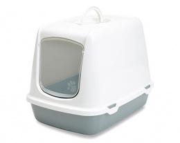 Туалет для кошек - Oscar, холодный серый - белый, 50*37*39cm