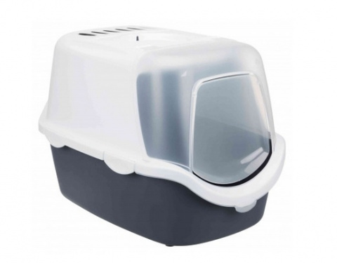Туалет для кошек - Vico Easy Clean Litter Tray, 40*40*56, grey/white