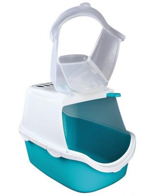 Tualete kaķiem - Trixie Vico Easy Clean Litter Tray, zila/balta, 40*40*56 cm