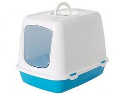 Туалет для кошек - Savic Oscar blue/white, 50*37*39 см