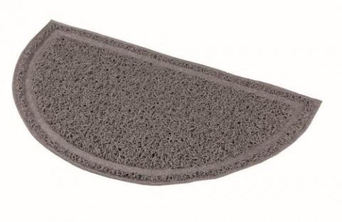 Коврик для кошачьего туалета – TRIXIE Litter Tray Mat, semi-circular, PVC, 59 x 35 см, Anthracite title=