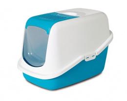 Tualete kaķiem - Savic Nestor, 56*39*38.5 cm, krāsa - zila/balta