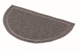 Коврик для кошачьего туалета – TRIXIE Litter Tray Mat, semi-circular, PVC, 41 x 25 см, Anthracite