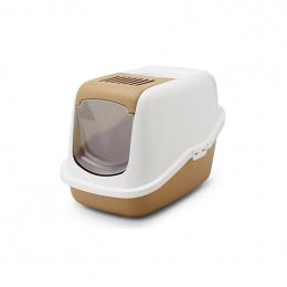 Туалет для кошек - Savic Nestor, 58*39.5*43 cm, цвет - коричневый/белый