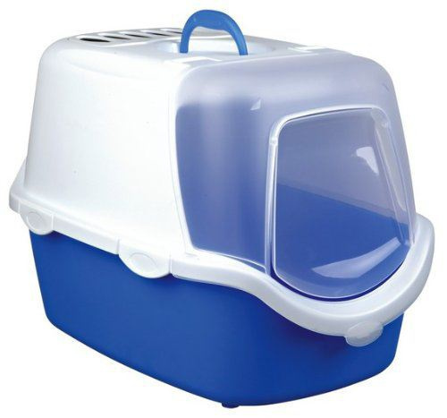 Туалет для кошек - Vico Easy Clean Litter Tray, 40*40*56 синий/белый