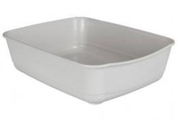 Tualete kaķiem - Classic cat litter tray, gaiši pelēka, 36x12x46cm