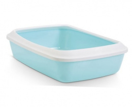 Tualete kaķiem - Savic Iriz 42 + rim, retro blue