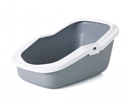 Туалет для кошек - Aseo, холодный серый - белый, 56*39*27.5cm