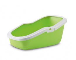 Туалет для кошек - Aseo, лимонный зеленый - белый, 56*39*27.5cm