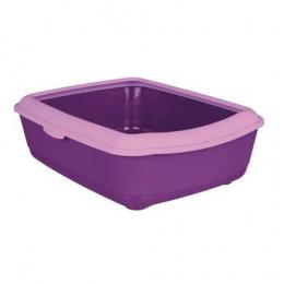 Туалет для кошек - Classic cat litter tray with rim 37*15*47cm, фиолетовый/лиловый