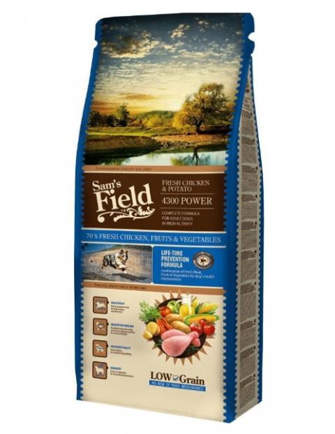 Barība suņiem - SamsField Fresh Chicken Potato 4300, 13 kg title=