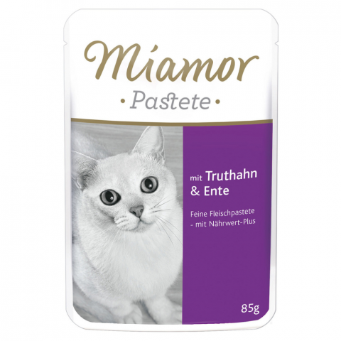Konservi kaķiem - Miamor Pastete (pouch) Turkey&Duck, 85 g