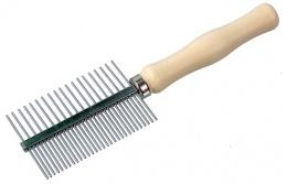 Ķemme dzīvniekiem - DogFantasy Universal Comb double-sided, wooden, 17 cm