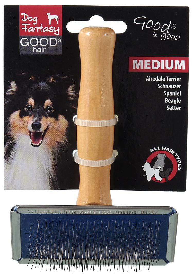 Ķemme dzīvniekiem - DogFantasy Brush, wooden, medium