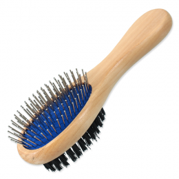 Расческа для животных - DogFantasy Soft Brush, double-sided, wooden, small