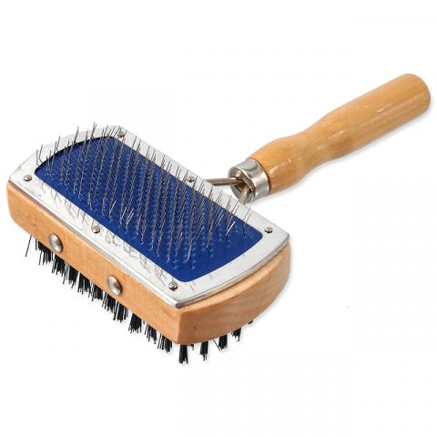 Расческа для животных  - DogFantasy Universal Brush double-sided, wooden