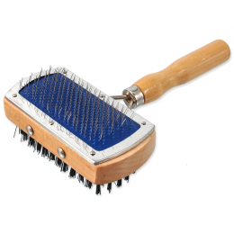 Расческа для животных  - DogFantasy Universal Brush double-sided, wooden