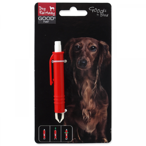 Пинцет для удаления клещей – Dog Fantasy Tweezers for Ticks, Plastic, 9 см title=