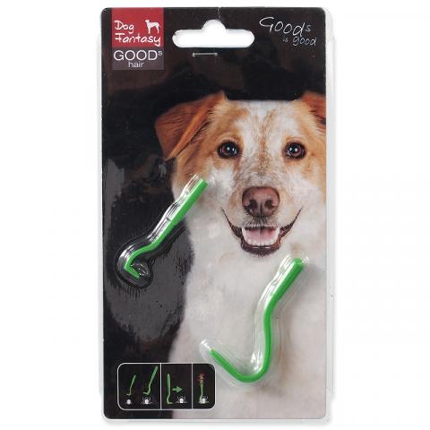 Пинцет для удаления клещей – Dog Fantasy Ticks Away, Plastic, 2 шт. title=