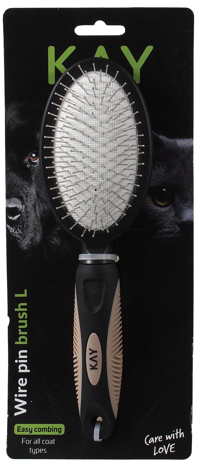 Расческа для животных  - KAY Wire pin brush, L