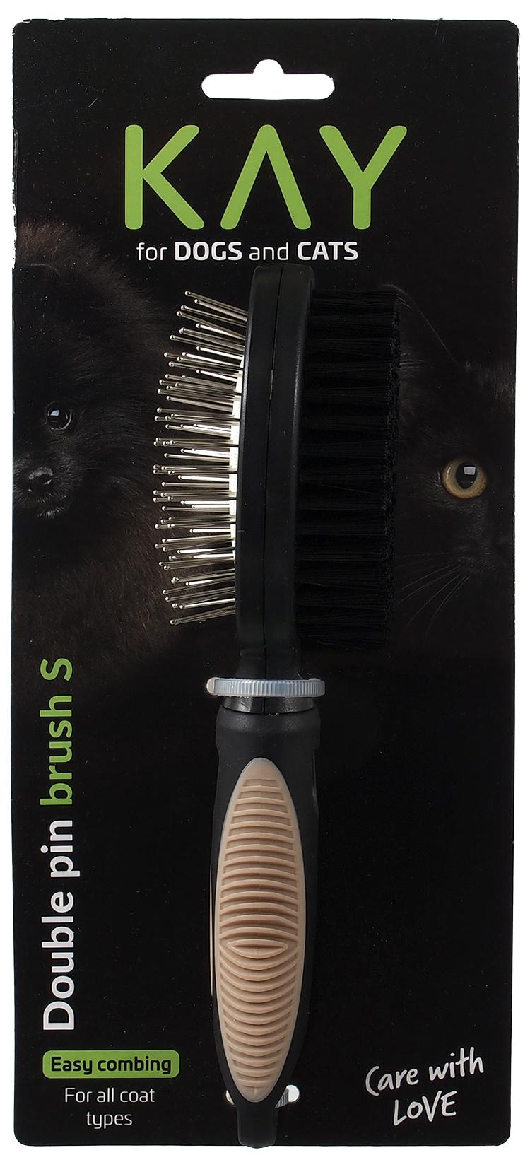 Расческа для животных  - KAY Double pin brush, S