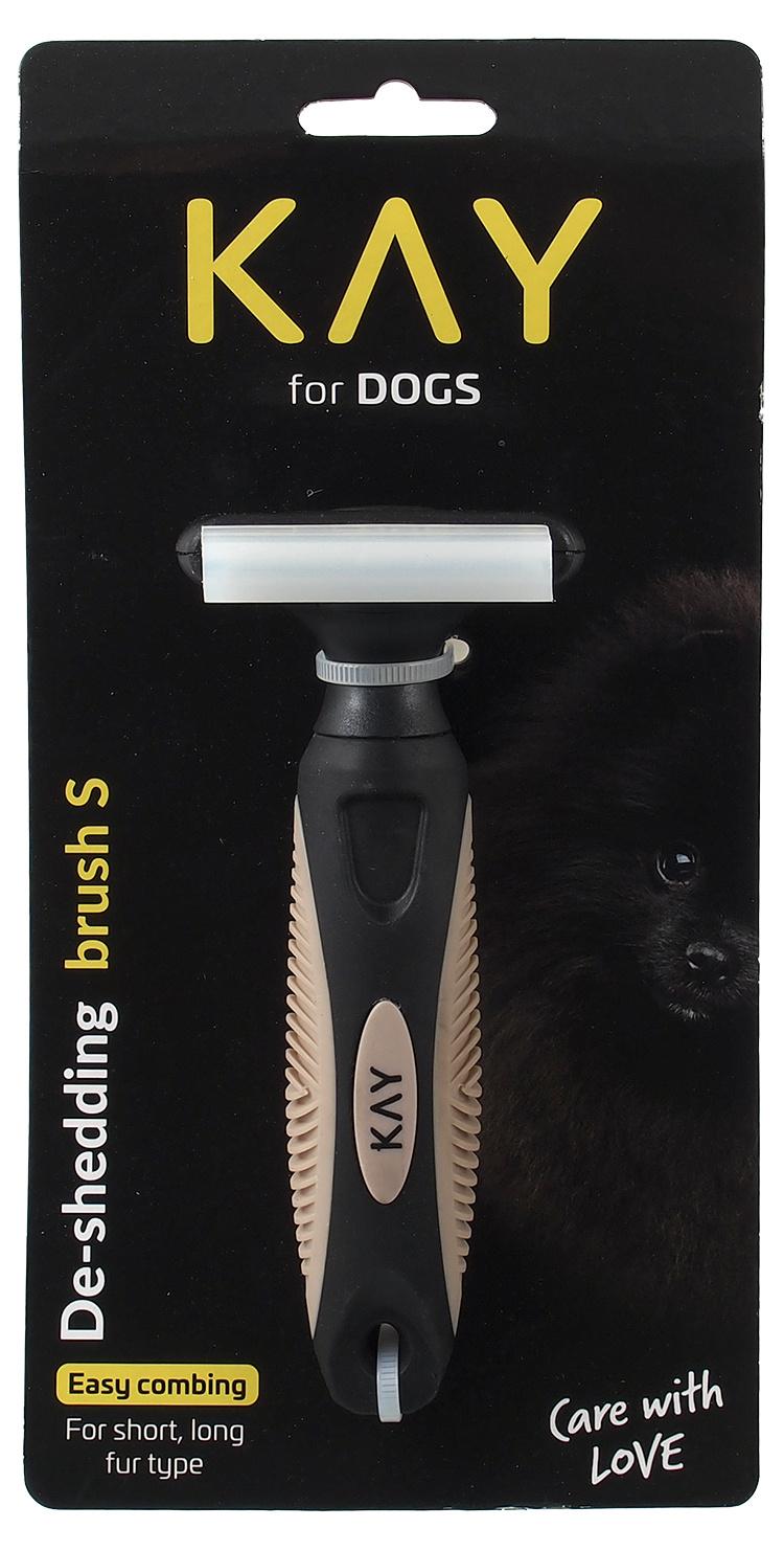 Ķemme dzīvniekiem - KAY De-Shedding brush, S